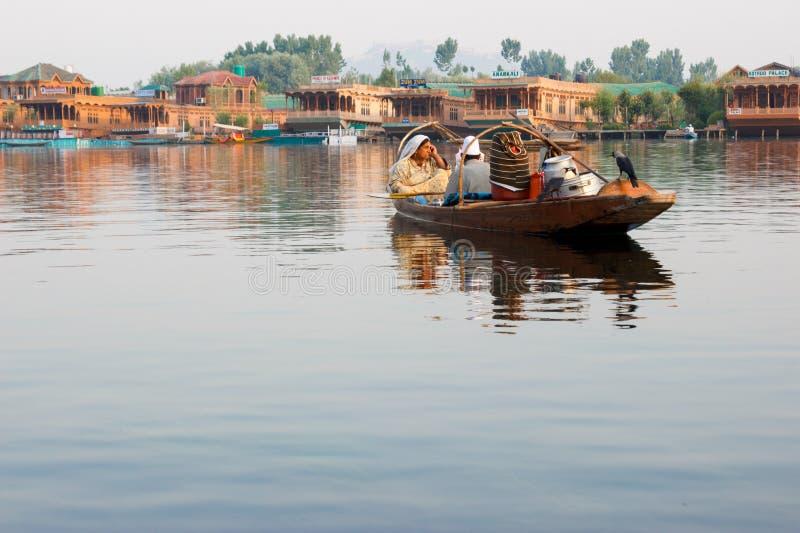 Boating in Dal lake, Srinagar stock images