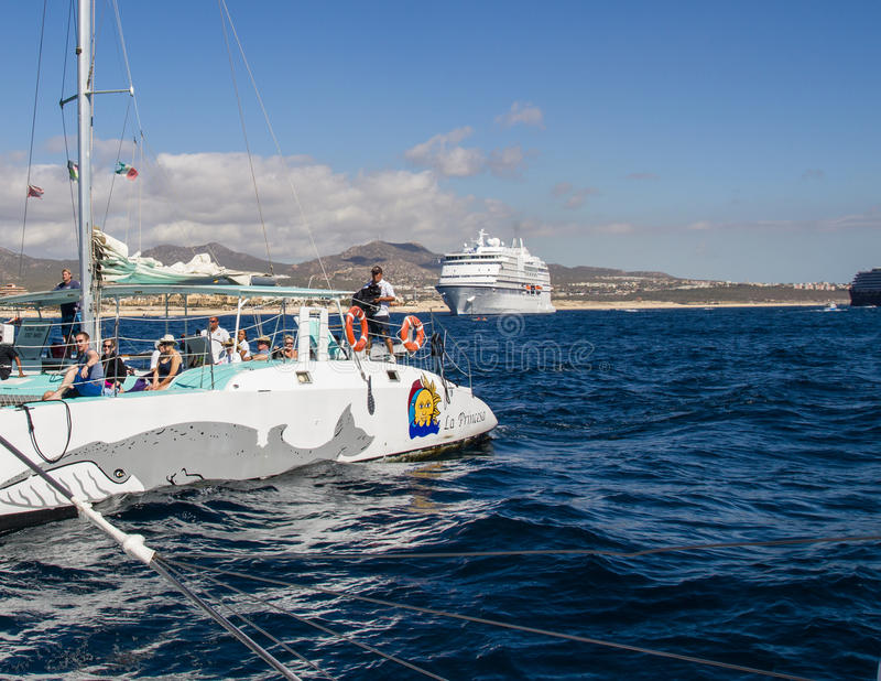 Boating Fun Off Cabo royalty free stock photography