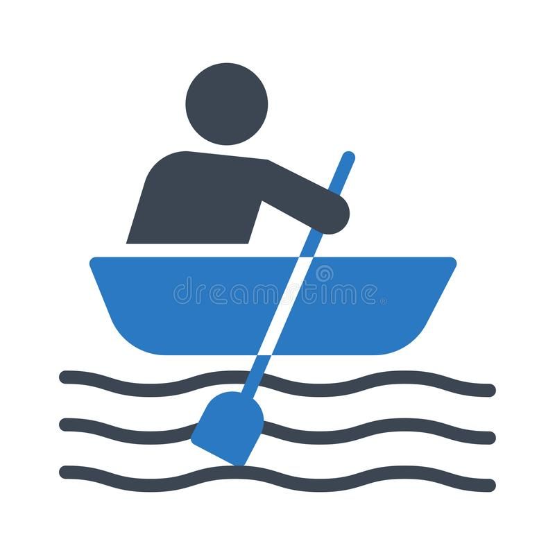 Boating glyph colour vector icon. Boating icon. Elements for mobile concept and web apps. Thin line icons for website design and development, app development vector illustration