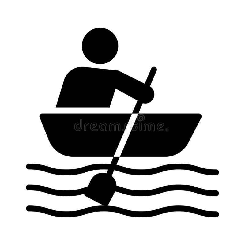 Boating glyph flat vector icon. Boating icon. Elements for mobile concept and web apps. Thin line icons for website design and development, app development stock illustration