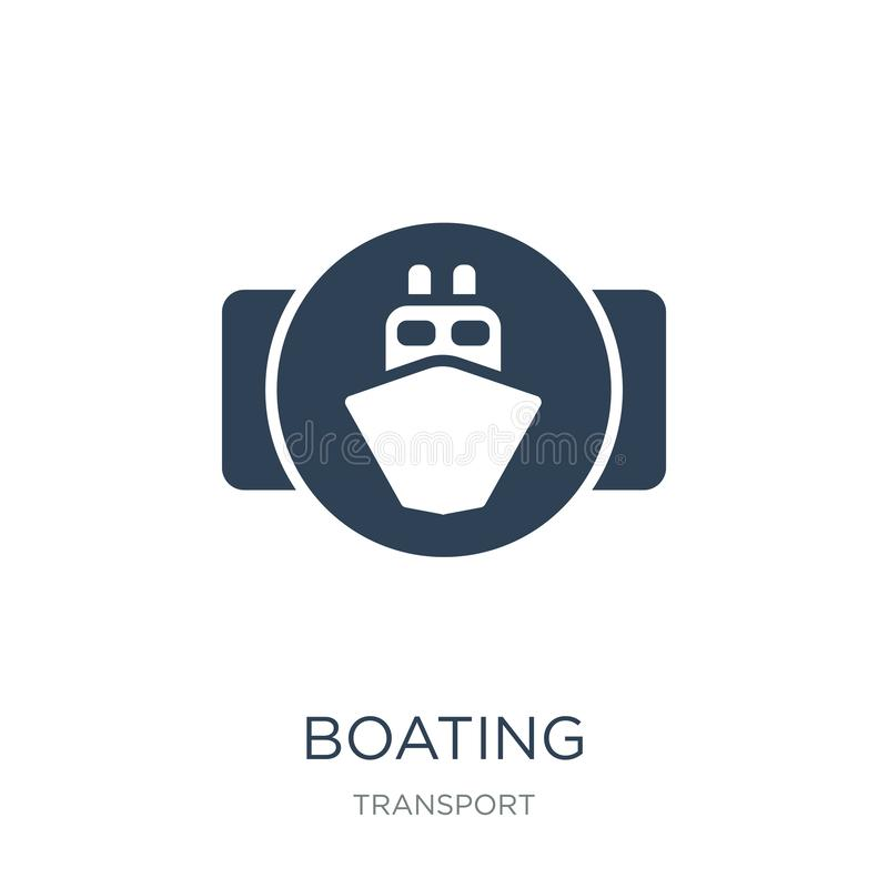 Boating icon in trendy design style. boating icon isolated on white background. boating vector icon simple and modern flat symbol. For web site, mobile, logo stock illustration