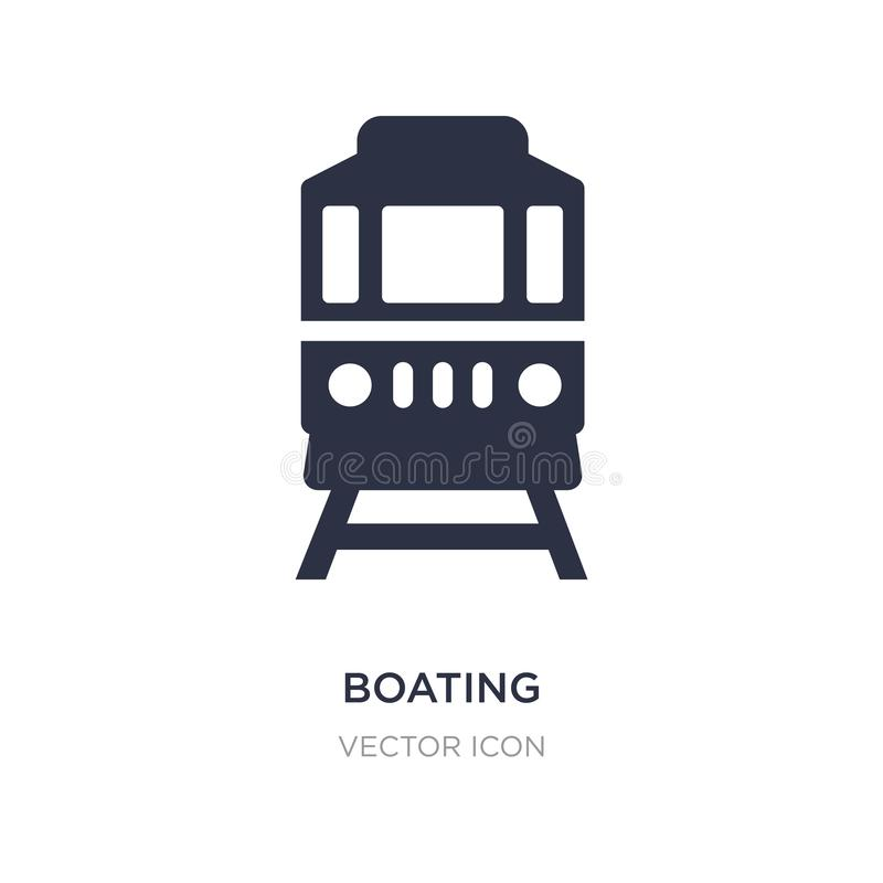 Boating icon on white background. Simple element illustration from Transport concept. Boating sign icon symbol design royalty free illustration