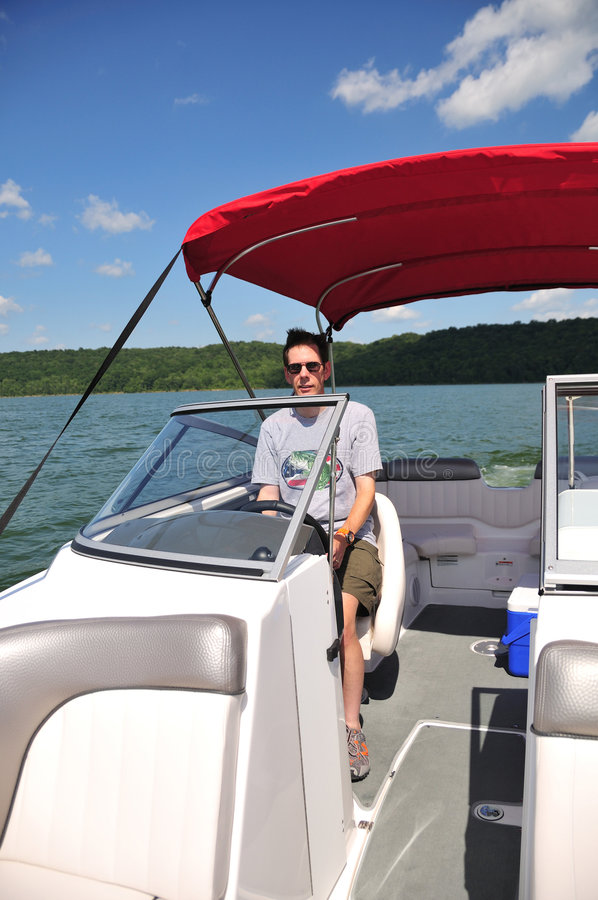 Download Boating In Indiana USA stock image. Image of skipper, lake - 5954547