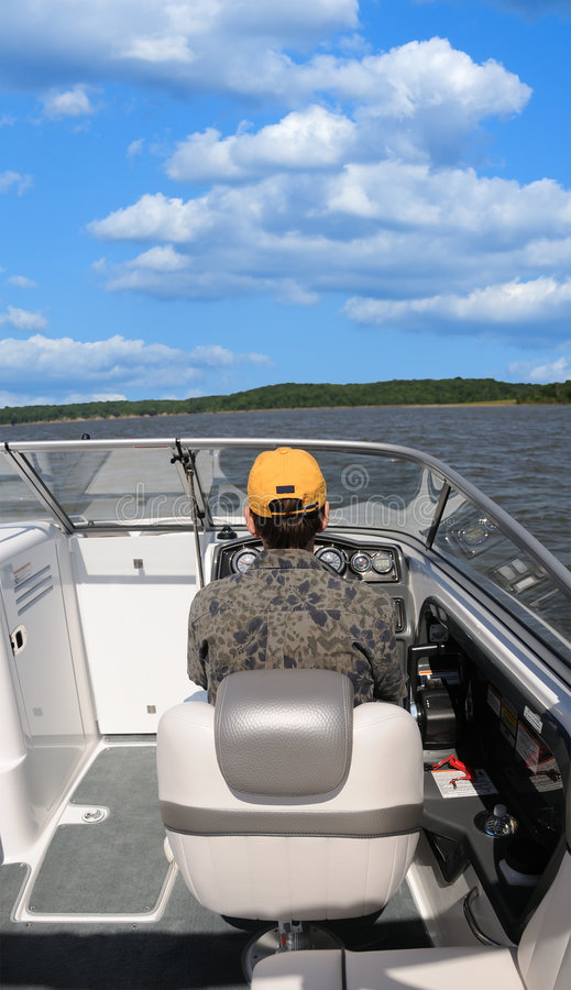Download Boating In Kentucky 5 stock image. Image of skipper, boat - 5579611