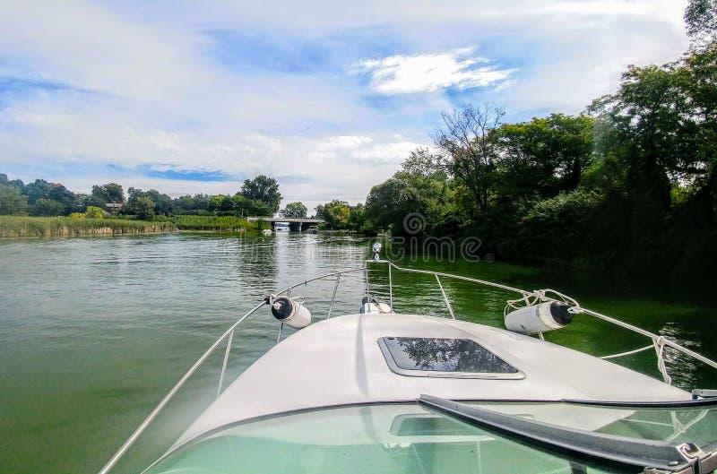 Boating on lake royalty free stock images