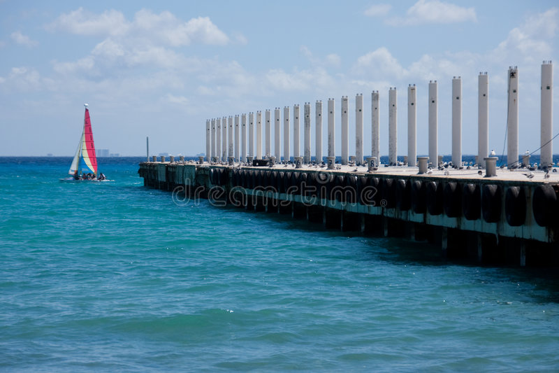 Boating at Playa Del Carmen, Mexico