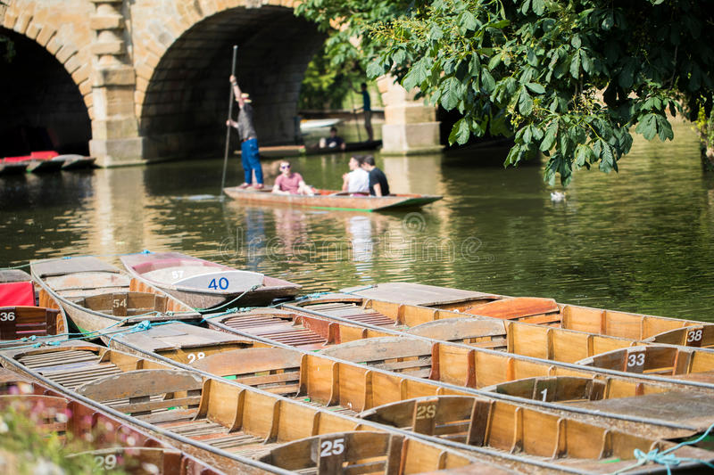 Boating In Punts On River Cherwell In Oxford royalty free stock image