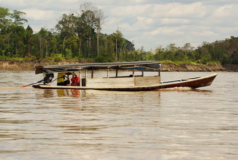 Boating on the River. Peru Amazon stock photo