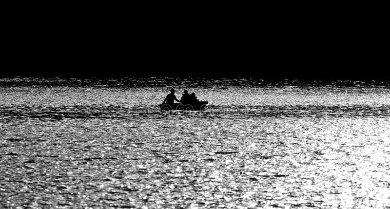 Download Boating Sillouette stock image. Image of sport, lake - 16041893