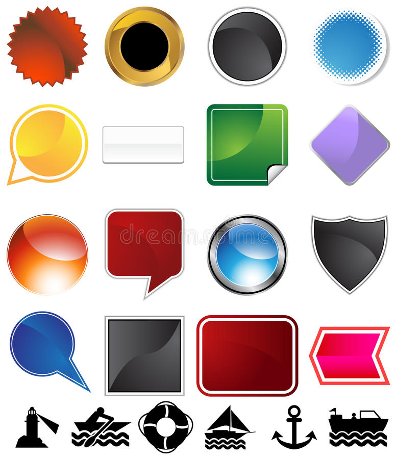 Download Boating Variety Set stock vector. Image of element, icon - 11855037
