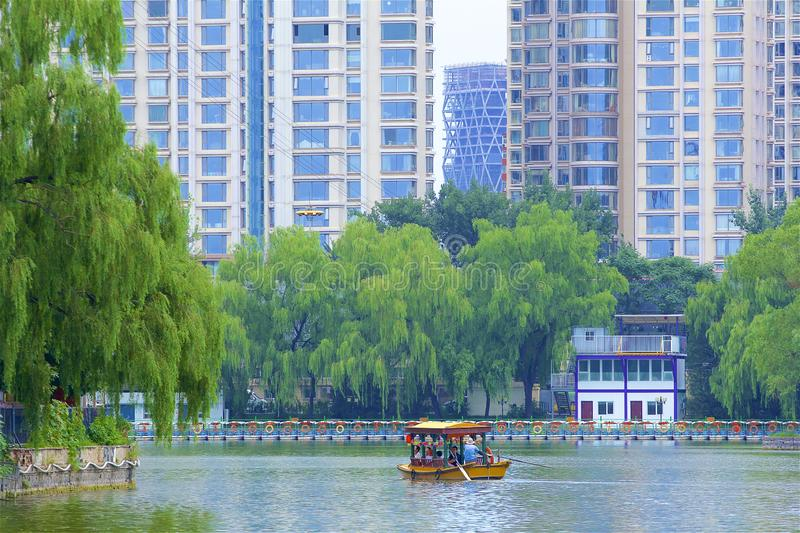 Chaoyang park, Beijing. Boating and Views in Chaoyang park, Beijing, China stock images