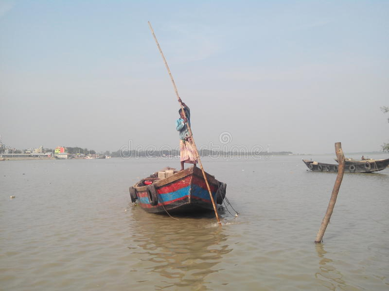 Boatman stock photography
