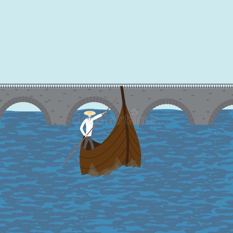 Boatman vlotters royalty-vrije illustratie