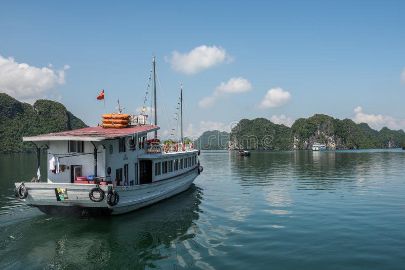 Boatride在越南 库存图片