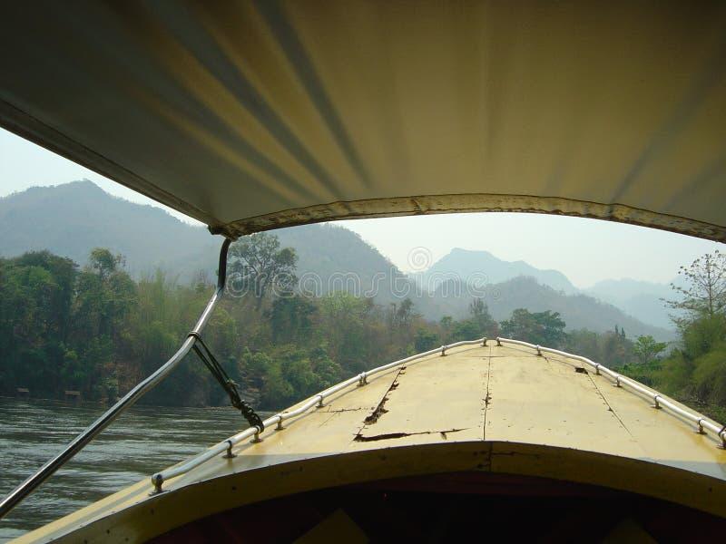 Boatrip sul fiume Kwai fotografia stock