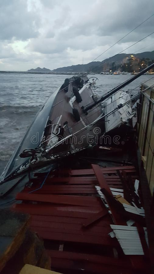 Boats& x27;击毁 免版税库存照片