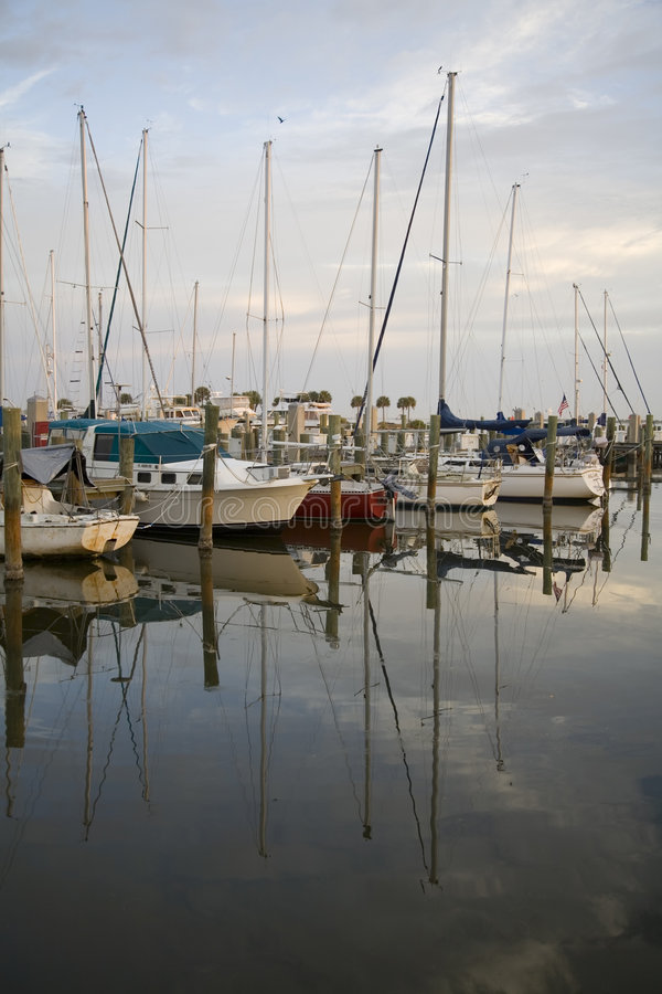 Download Boats stock photo. Image of masts, still, morning, mirror - 453190