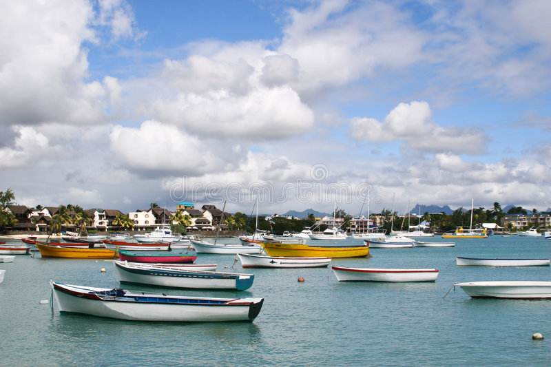 Download Boats stock image. Image of water, seaboard, resort, tree - 5357599