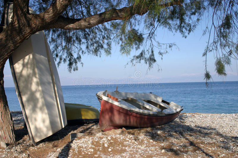 Download Boats stock image. Image of beach, boat, sail, boats, tree - 79825