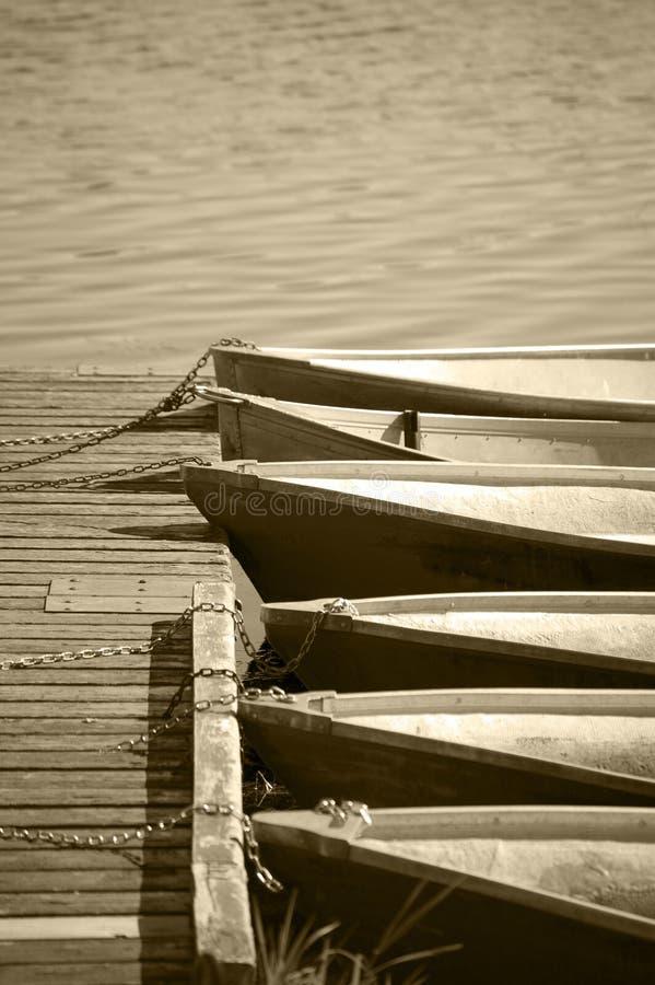 Boats Anchored Stock Photo
