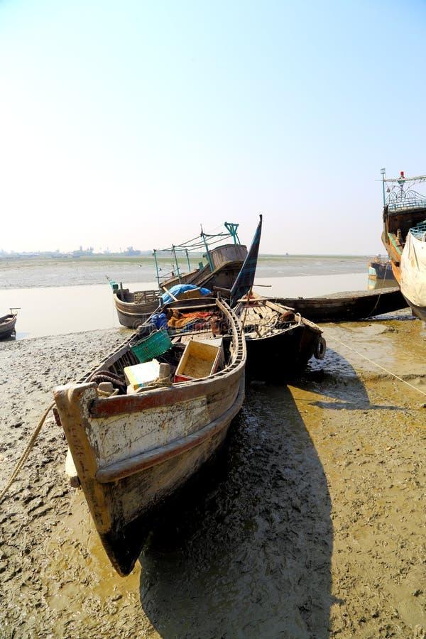 Boats ar riverside royalty free stock photos