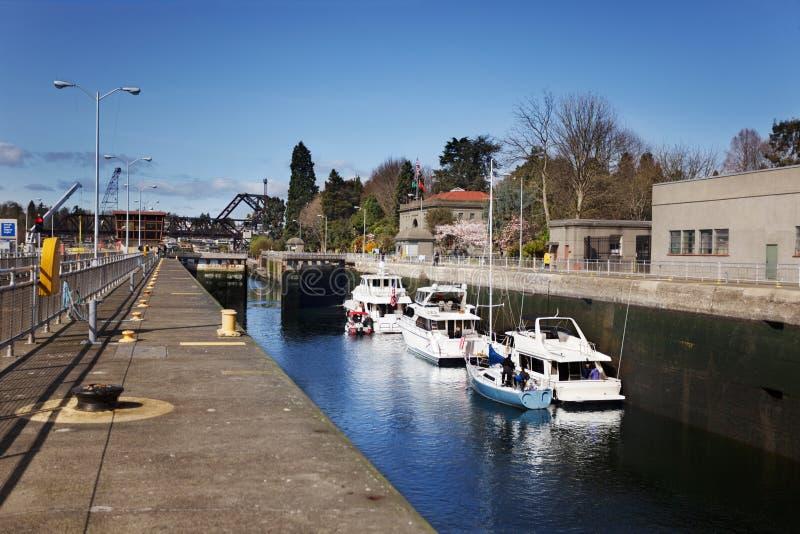 Download Boats In Ballard Locks Royalty Free Stock Image - Image: 19529816