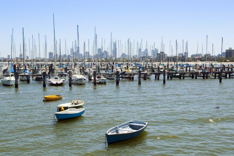 Boats in Bay stock image
