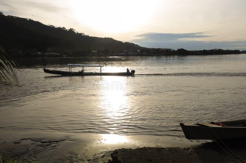 Boats on Beni river, Rurrenabaque, Bolivia. Beni and La Paz Region royalty free stock photos