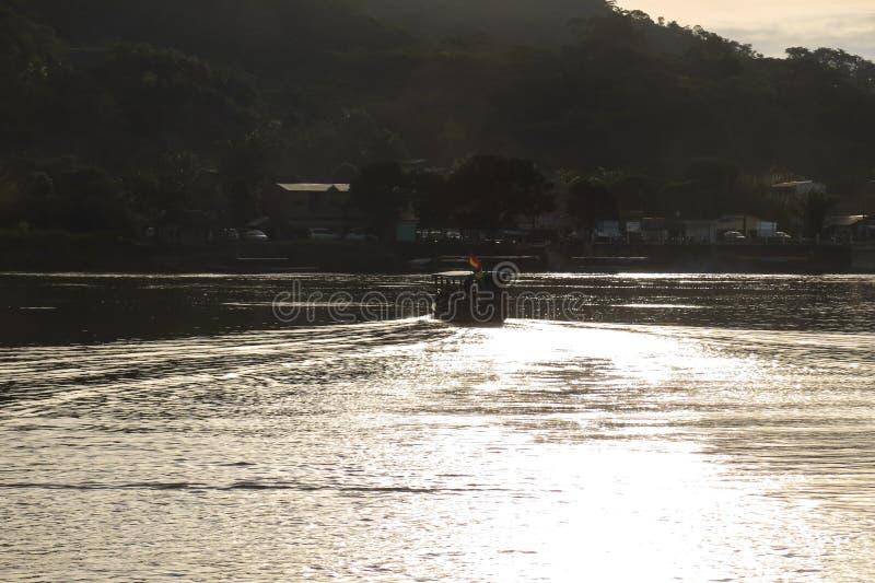 Boats on Beni river, Rurrenabaque, Bolivia. Beni and La Paz Region stock photography