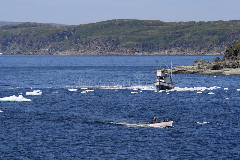 Download Boats In Bergy Bits In Goose Cove Editorial Stock Image - Image: 21138314