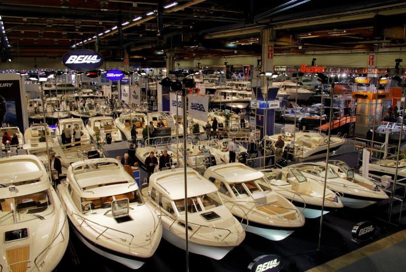Boats at Boat Show stock photo