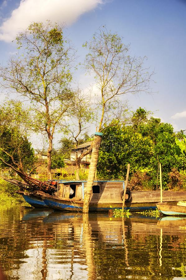 Mekong river delta south vietnam stock images