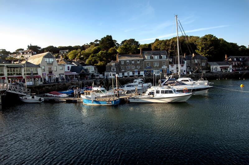 Boats and Buildings Near the Ocean stock photography