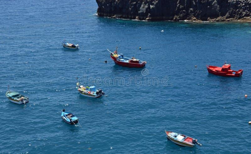 Boats in Camara de Lobos stock photos