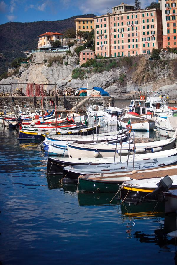 Download Boats - Camogli stock image. Image of italian, boat, house - 13571763