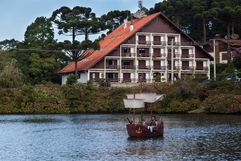 Download Boats On Dark Lake Gramado Brazil Editorial Stock Photo - Image: 25085253