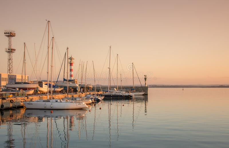 Boats at dock royalty free stock photography