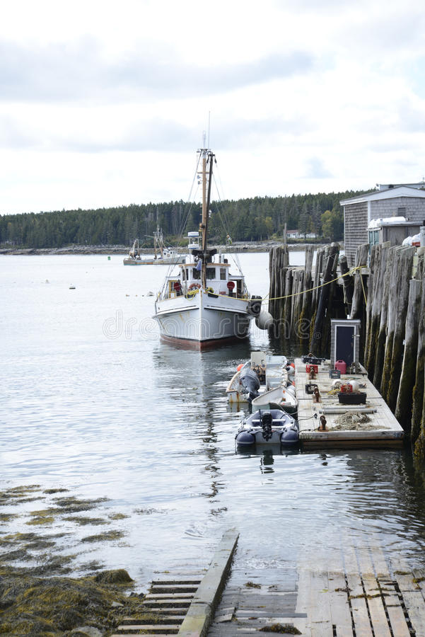 Boats docked in Port Clyde, Maine royalty free stock photography