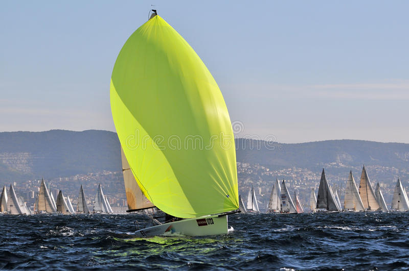 Download Boats engaged in the race editorial stock image. Image of sail - 19304009
