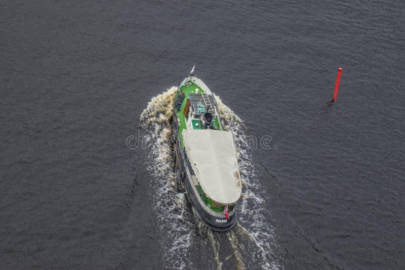 Boats in the escort fleet to ms sjøkurs stock photography
