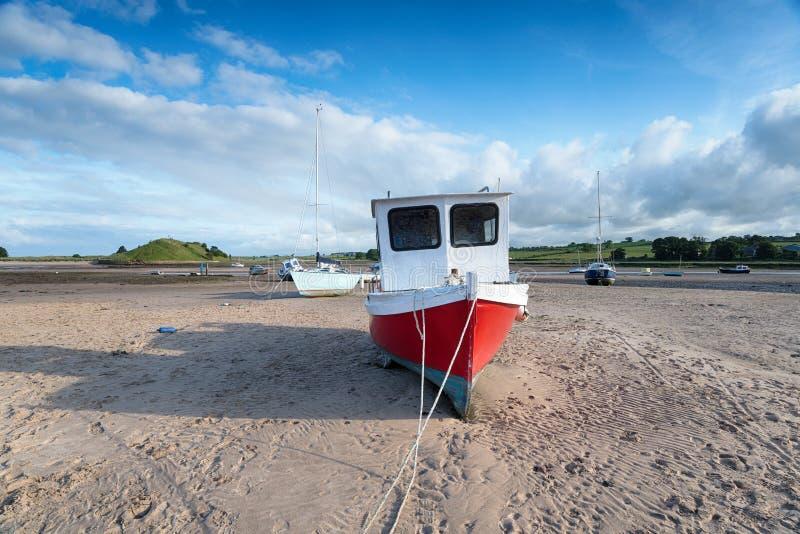 Boats at Alnmouth royalty free stock photo