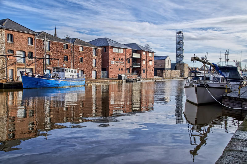 Boats At The Exeter Quays royalty free stock image