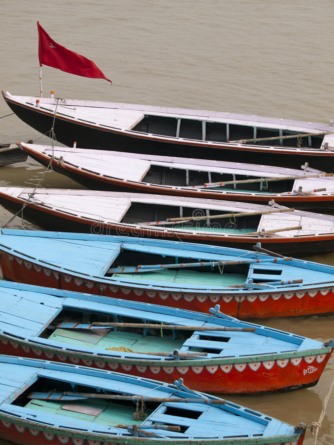 Download Boats In The Ganges In Varanasi, India Stock Photo - Image: 23740528