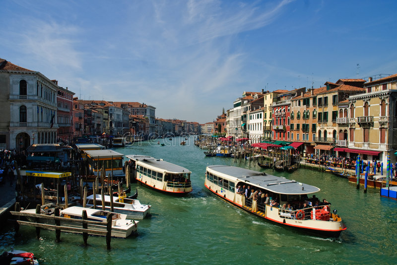 Boats on Grand Canal royalty free stock images