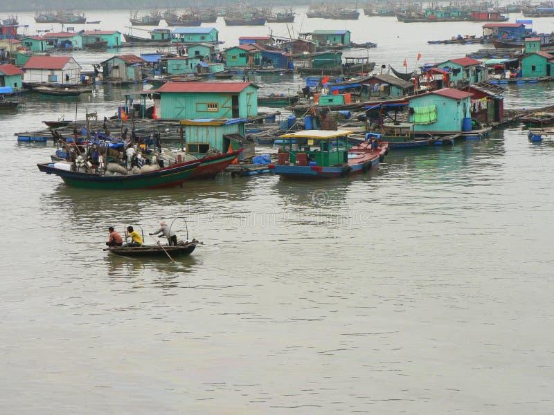 Boats in Halong bay, Vietnam. stock image