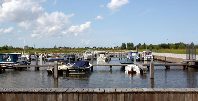 Boats in the harbor royalty free stock image