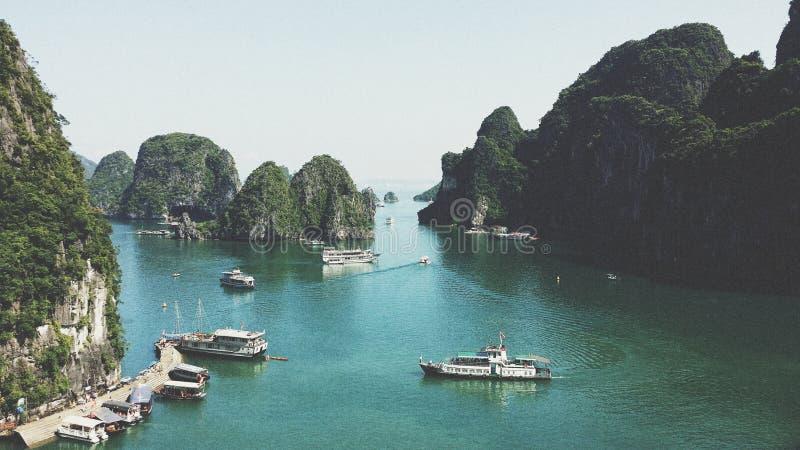 Boats In Harbor Of Halong, Vietnam Free Public Domain Cc0 Image