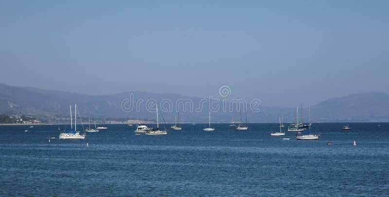 San Bernardino harbor. Boats in the harbor of San Bernardino, California stock image