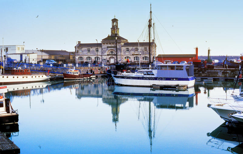 Download Boats in harbour stock photo. Image of commercial, travel - 28904102