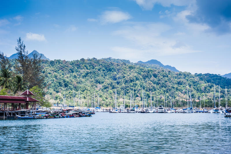 Download Boats at harbour stock photo. Image of ocean, asia, landscape - 29245582